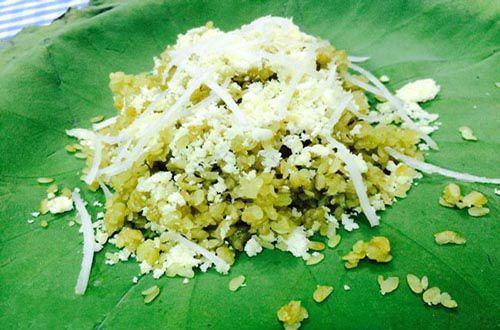 Cách nấu xôi cốm sen dừa thơm ngon chuẩn vị với 4 bước đơn giản