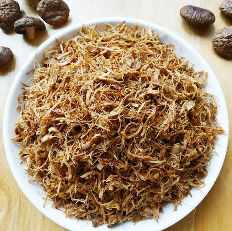 2 cách làm ruốc nấm Đông Cô khô từ chân Nấm Hương khô cực ngon