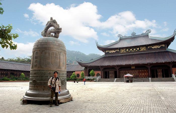 Chuông chùa Bái Đính quả chuông lớn nhất Việt Nam