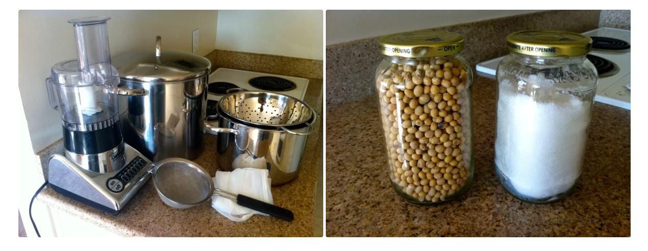 công cụ để làm đậu hũ tại nhà