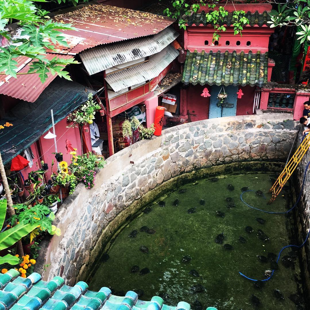 kiến trúc chùa Ngọc Hoàng nhìn từ trên cao