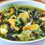 Lươn nấu đậu phụ chuối xanh ( chay)