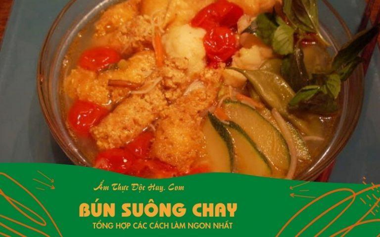 cách làm món bún suông chay chuẩn vị Sài Gòn