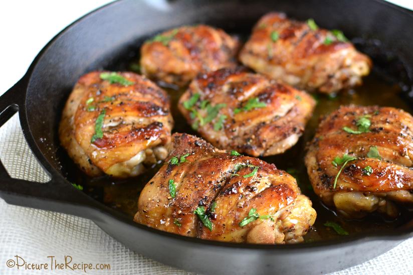 món gà chay quay bằng chảo