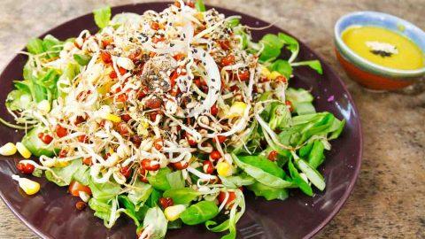 salad rau mầm chay ngon dễ làm
