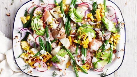 salad khoai tây chay ngon dễ làm